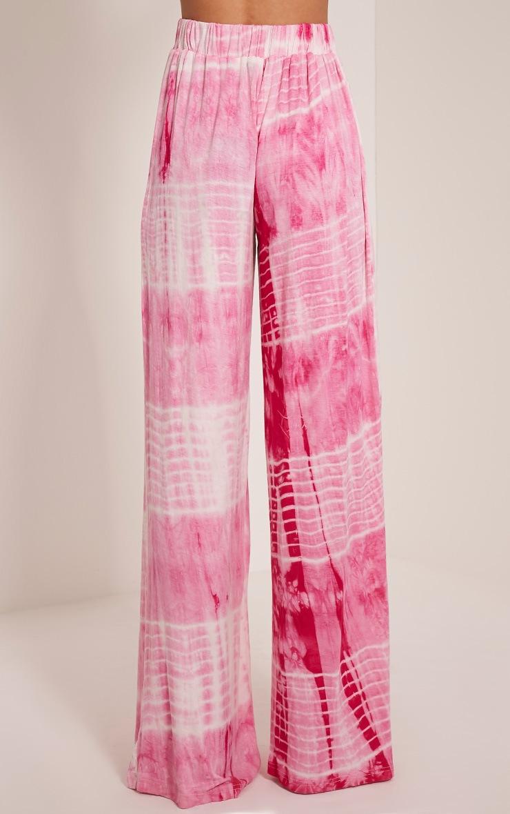 Saydie Pink Tie Dye Split Trousers 5