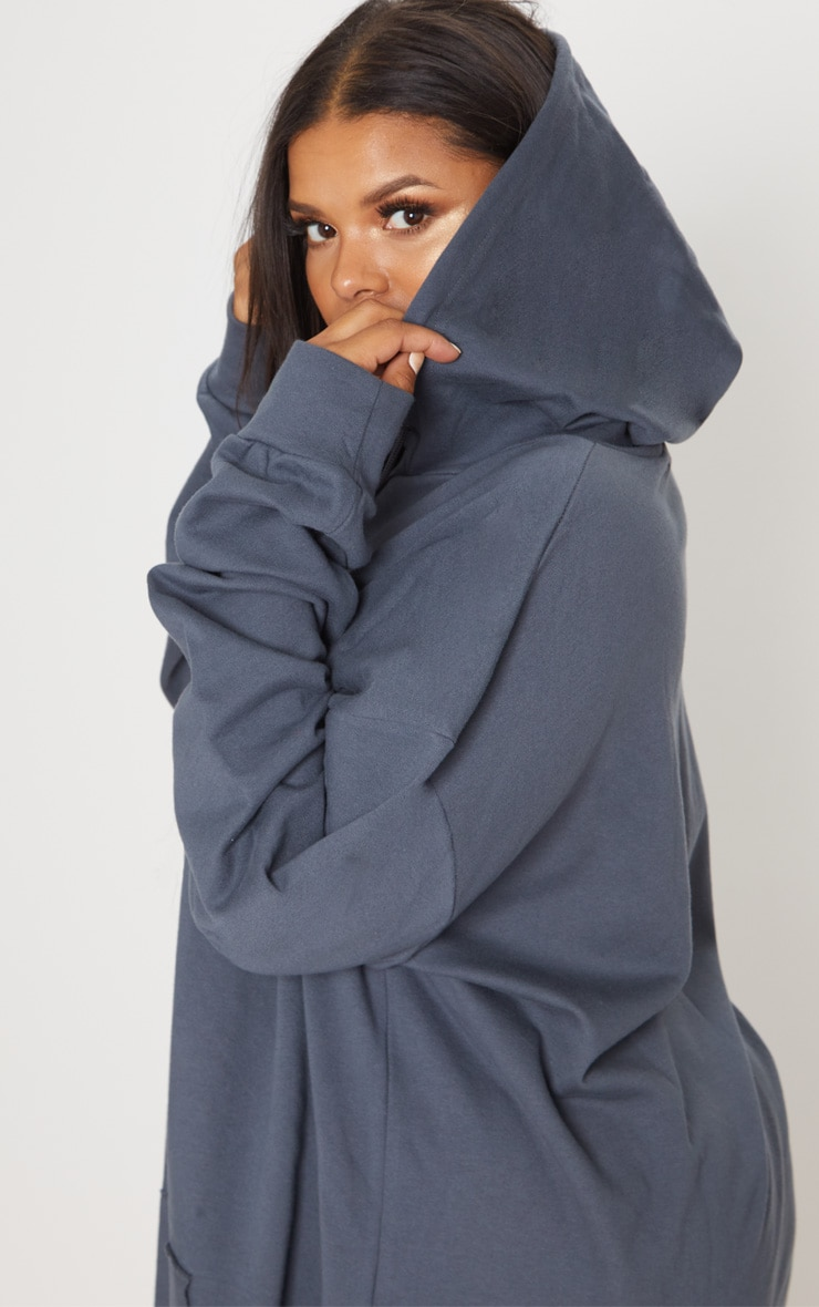 Plus Charcoal Oversized Hoodie 5