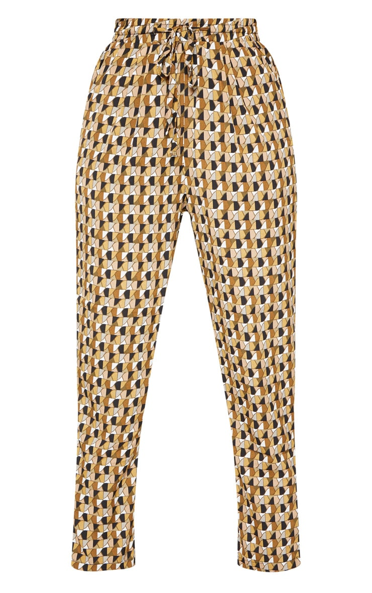 Multi Geo Print Cigarette Trouser 3