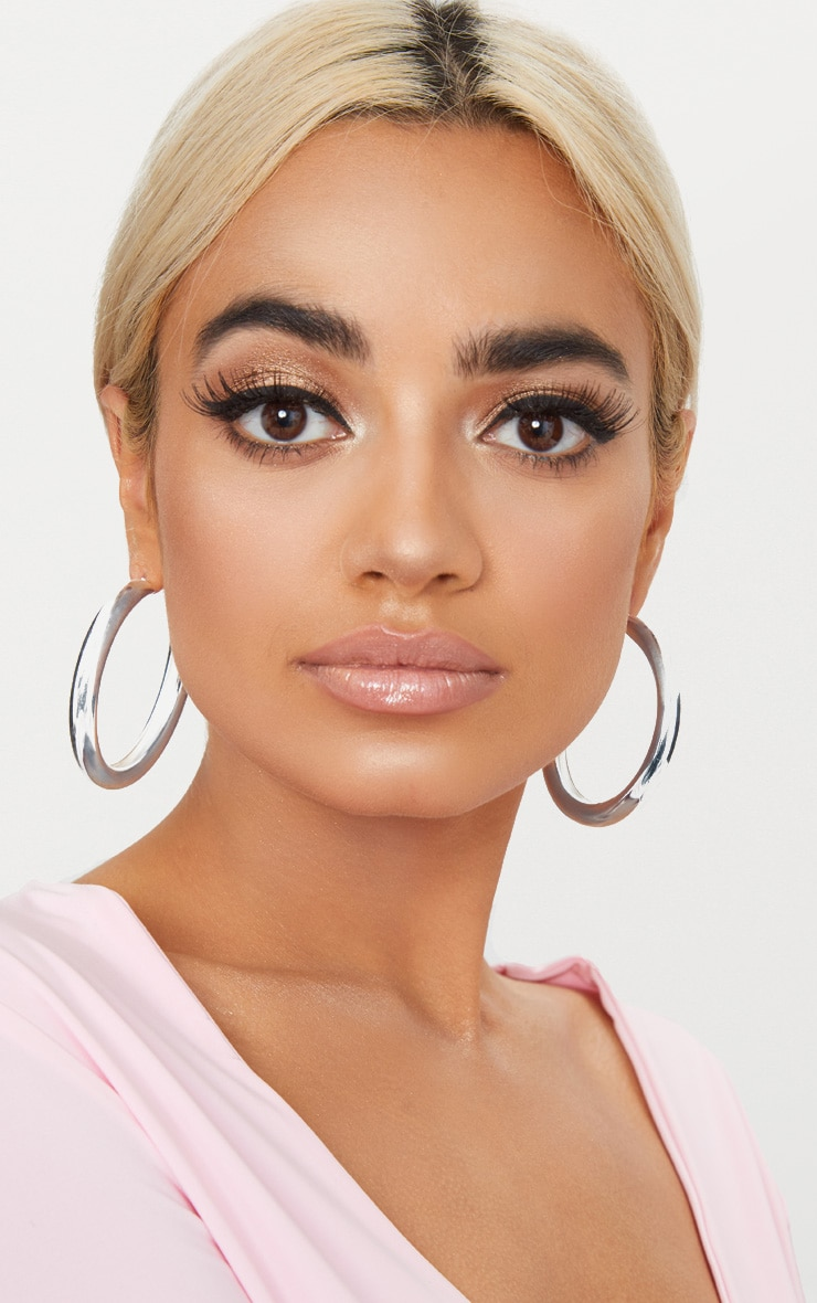 Silver Large Thick Hoops 2