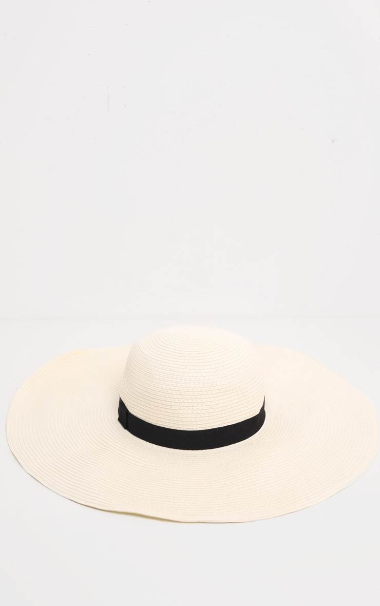 Cream Floppy Sun Hat 2