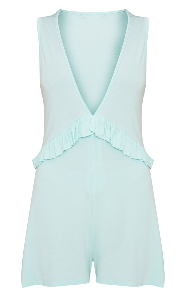 Mint Sleeveless Frill Detail Playsuit 2