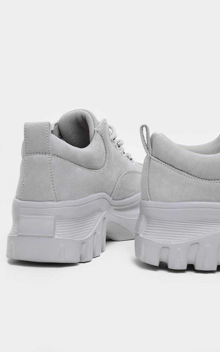 Grey Flatform Chunky Hiker Sneakers 4