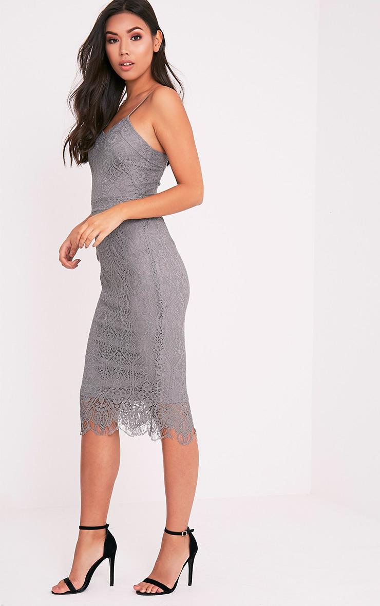 Stacie Grey Lace Midi Dress 4