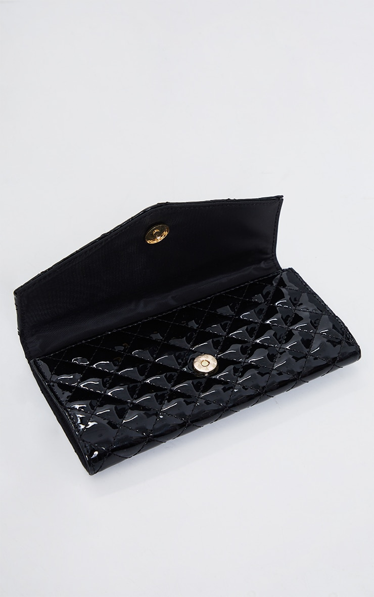 PRETTYLITTLETHING Black Quilted Purse 3