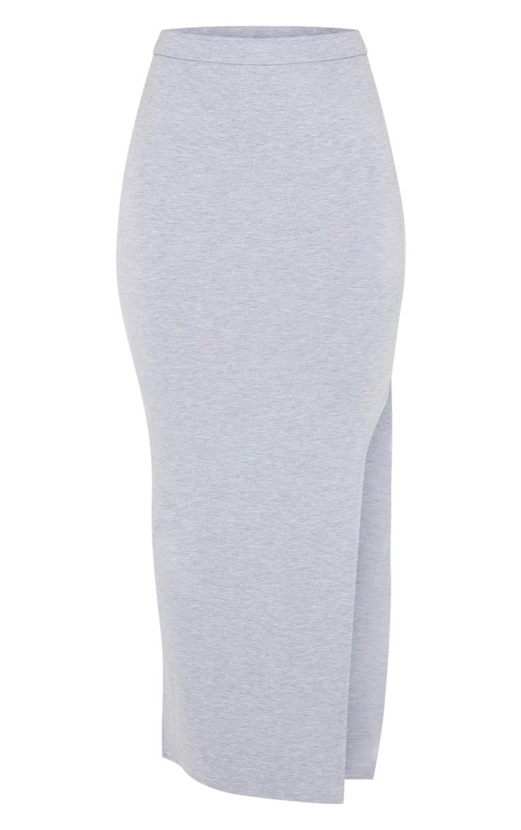 Grey Double Side Stripe Midaxi Skirt 3