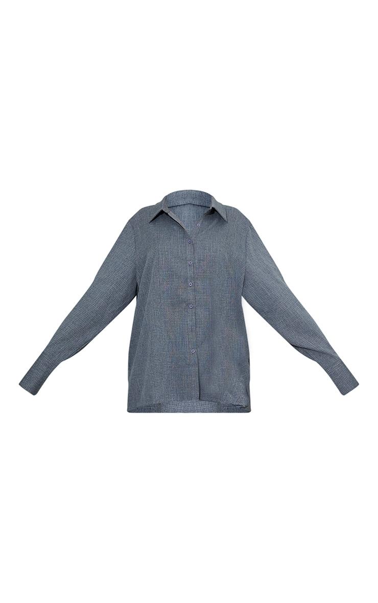 Dark Grey Oversized Cuff Shirt 5
