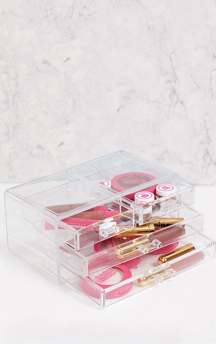 Technic Clear Four Drawer Cosmetics Organiser 1
