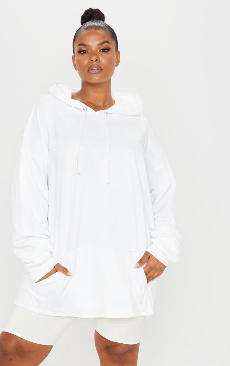 Plus White Oversize Hoodie 4