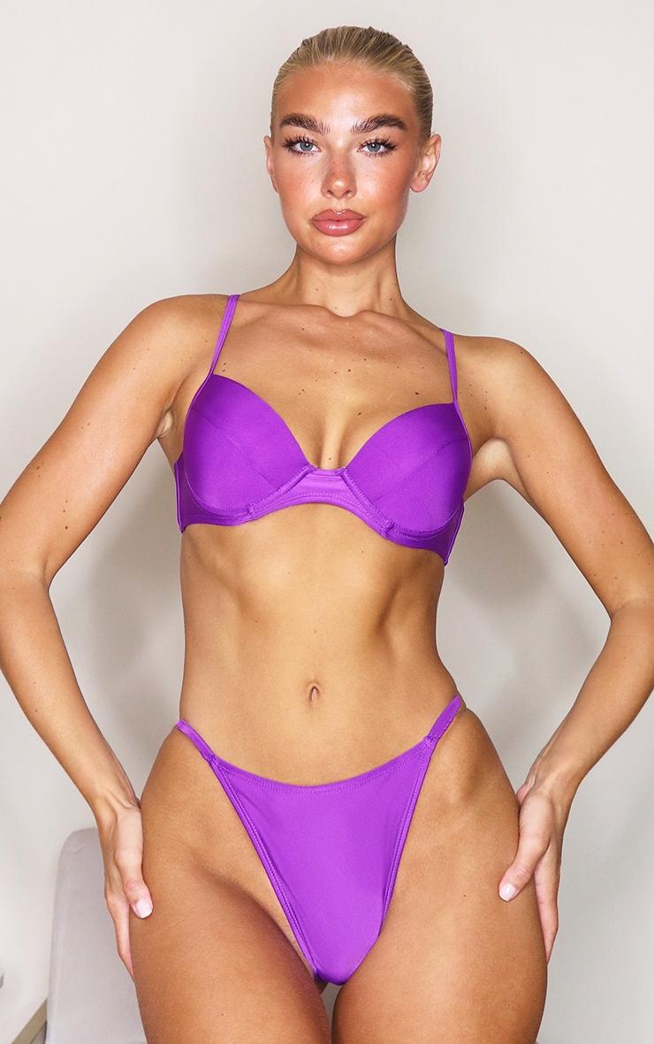 Purple Mix & Match Itsy Bitsy Bikini Bottoms 4
