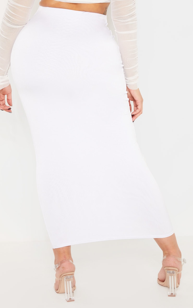 Shape White Slinky Midaxi Skirt 3