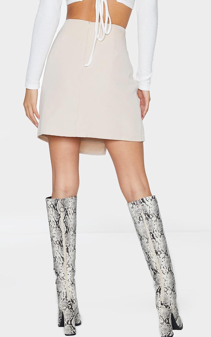 Stone Woven Wrap Mini Skirt 2