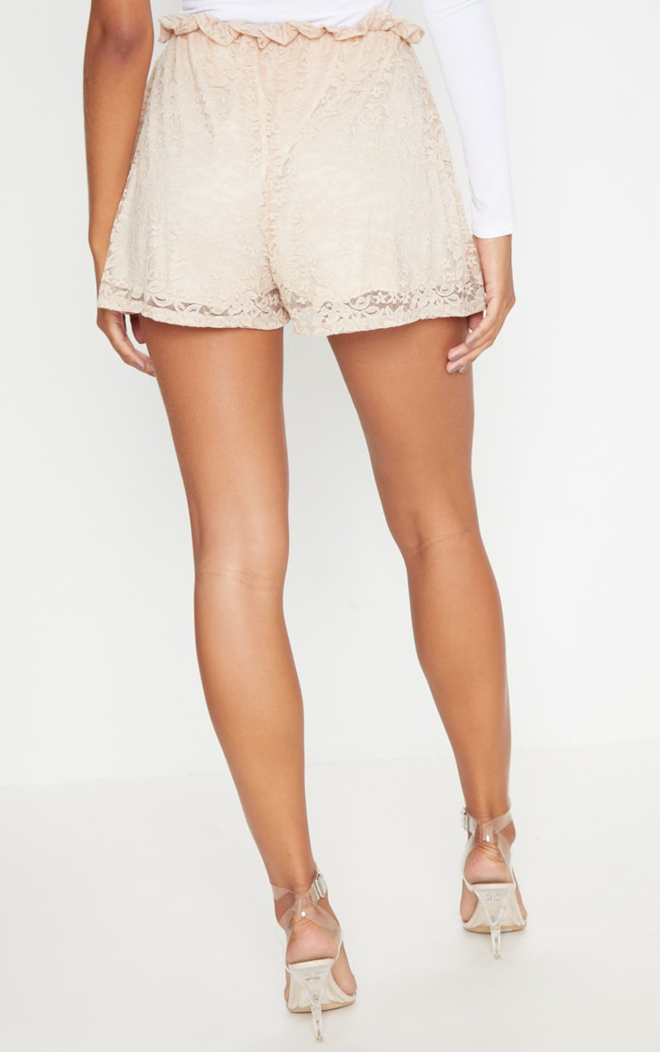 Stone Lace Paperbag Tie Waist Short 4