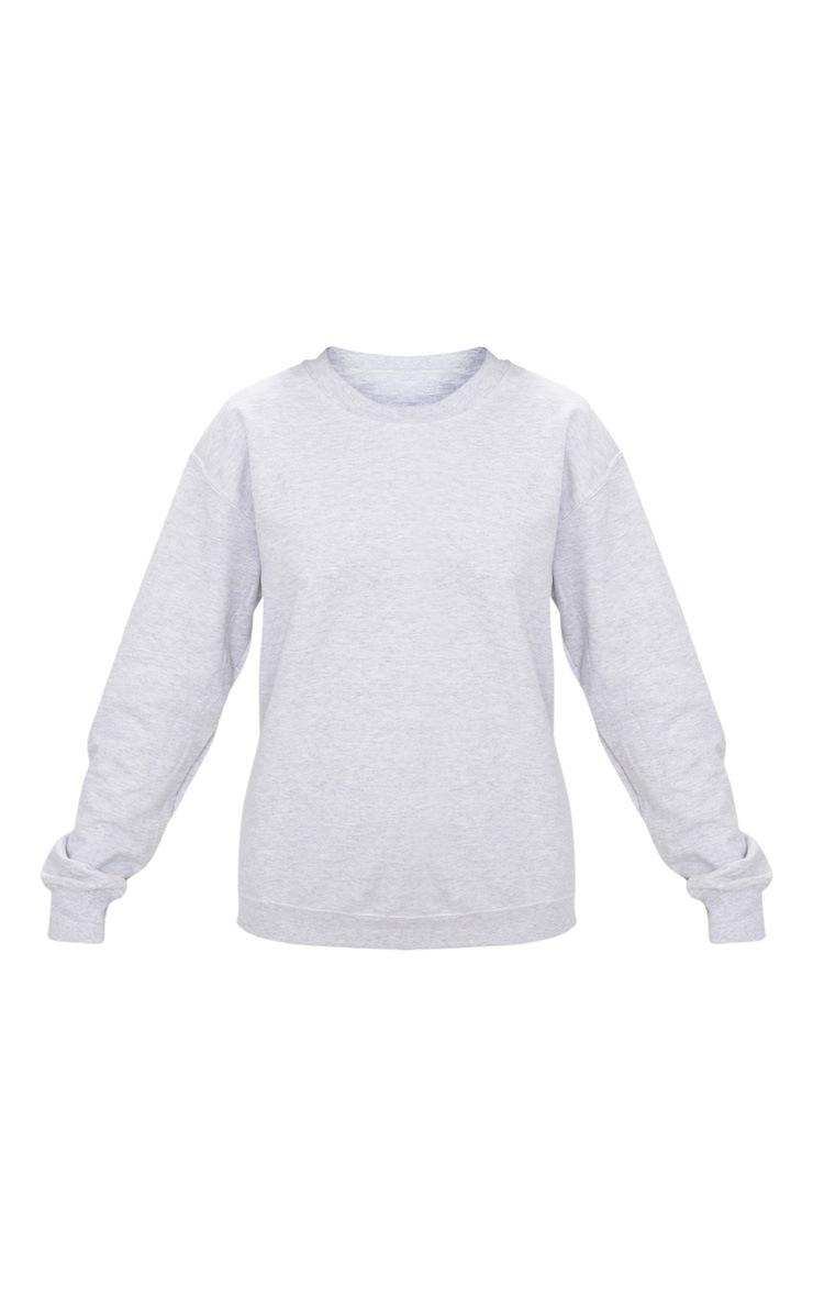 Recycled Ash Grey Oversized Sweatshirt 5