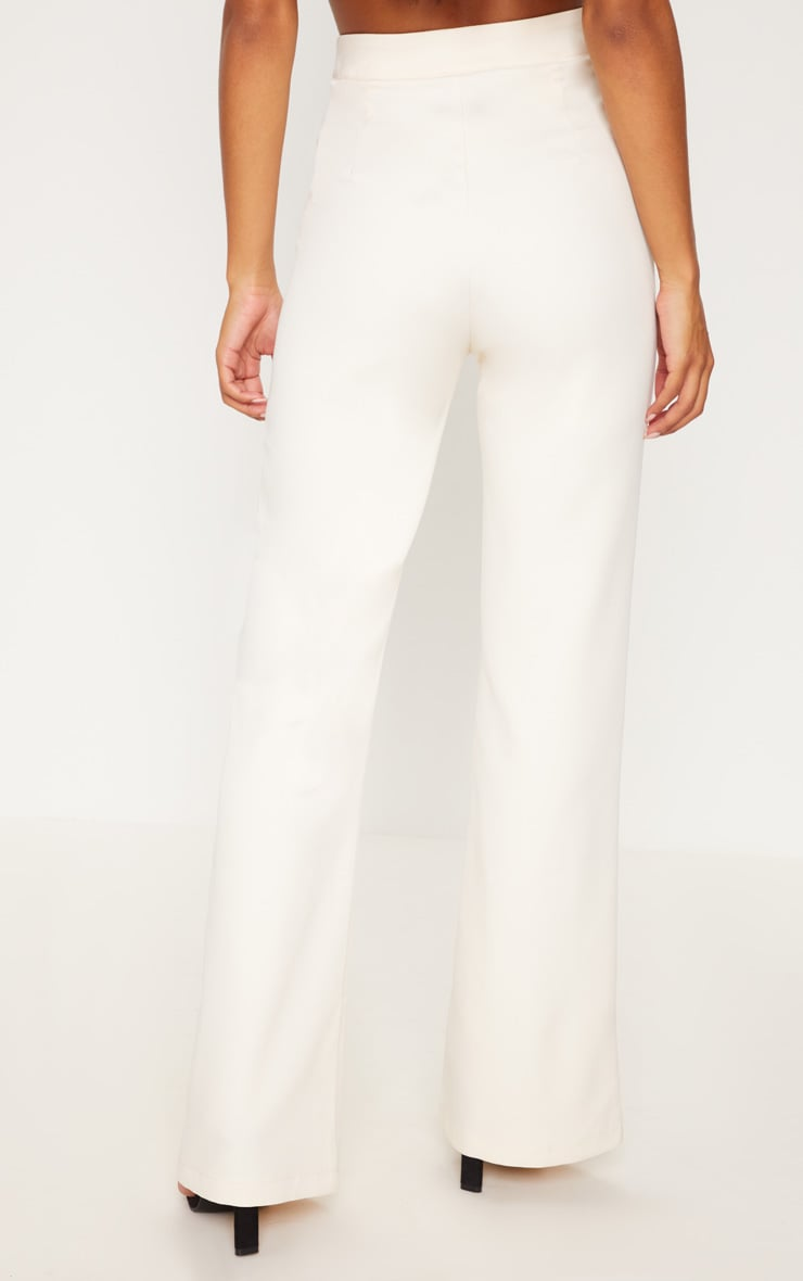 Cream Wide Leg Trousers 4