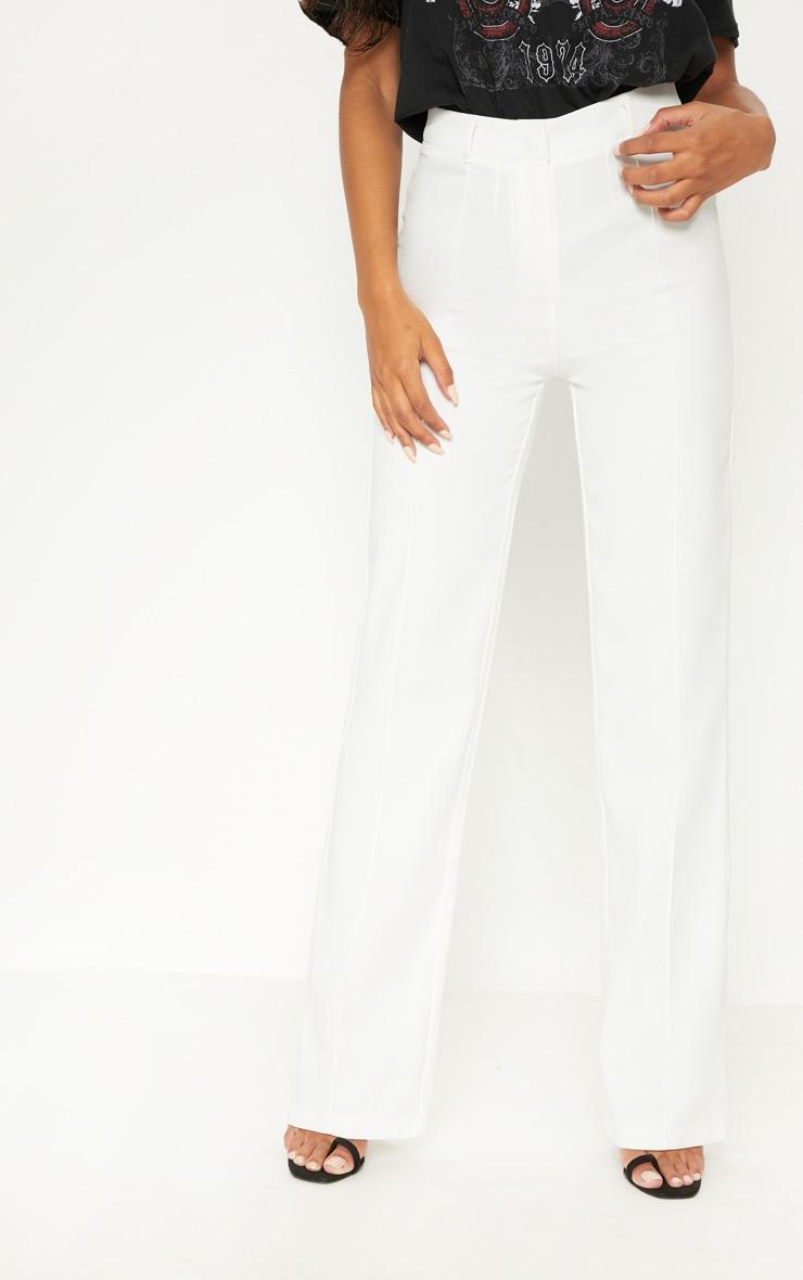 Anala Cream High Waisted Straight Leg Trousers 2
