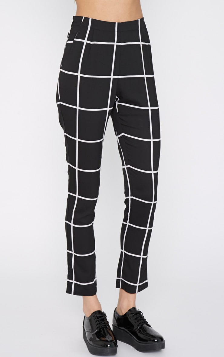 Antonia Monochrome Square Print Trouser 3
