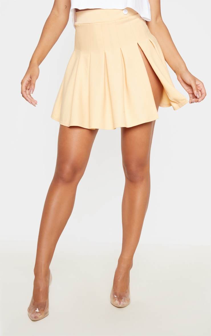 Fawn Pleated Side Split Tennis Skirt 2