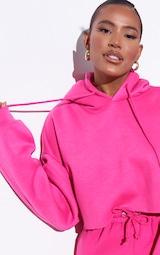 RENEW Pink Oversized Crop Hoodie 4