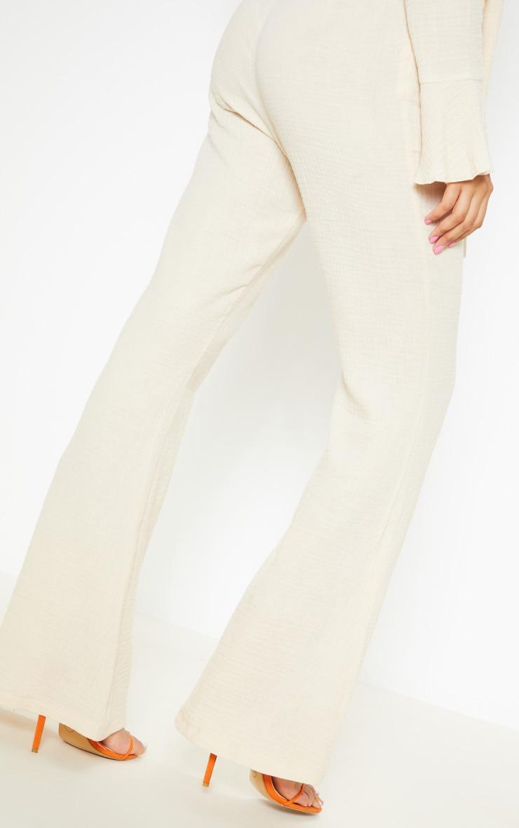 Stone Textured Flare Leg Pants 5