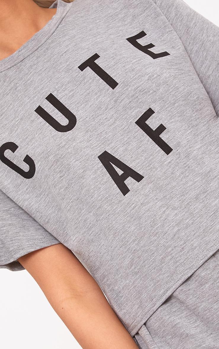 Grey Cute AF PJ Set 5