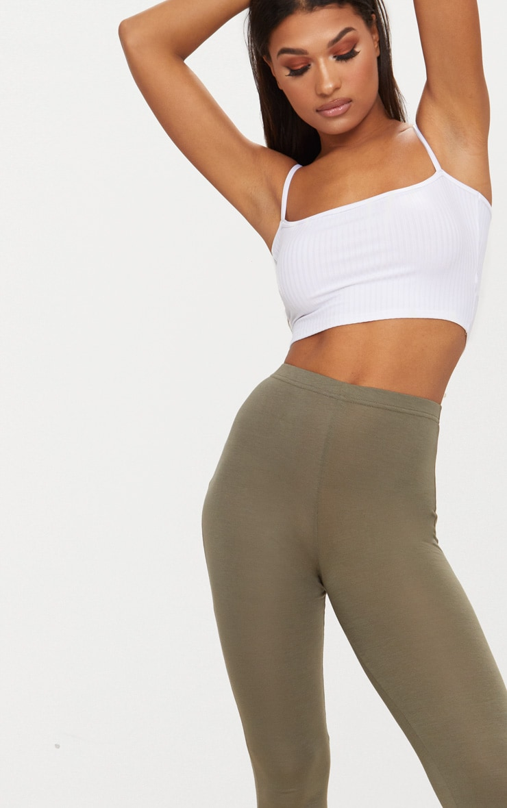 Basic Khaki Leggings 5