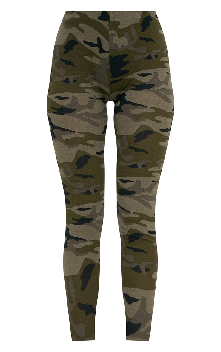 Khaki Camo Print Leggings 3