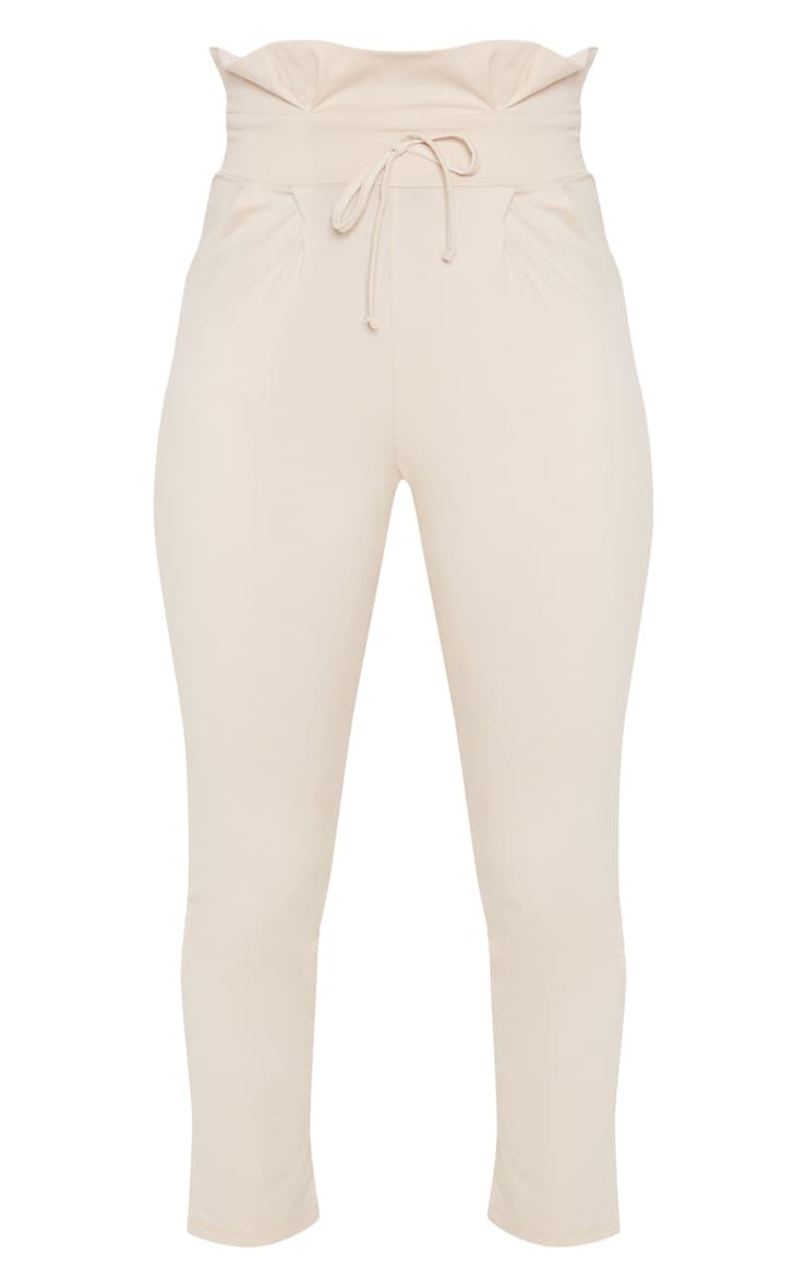 Cream Paperbag Waist Tapered Trouser 3