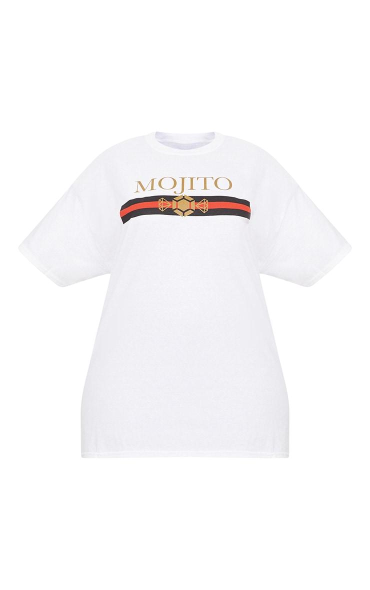 Plus White Mojito Slogan T Shirt 3