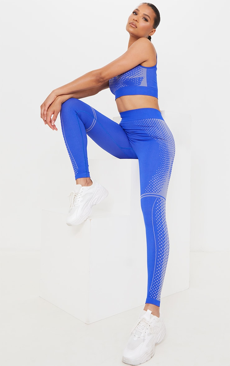 Cobalt Contour Dot Seamless Leggings 1