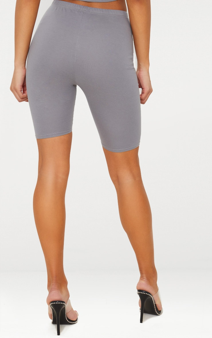 Charcoal Grey Basic Bike Shorts 4