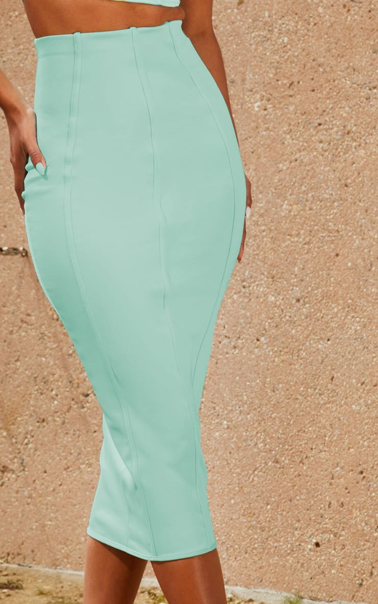 Aqua Second Skin Binding Detail Midi Skirt 5