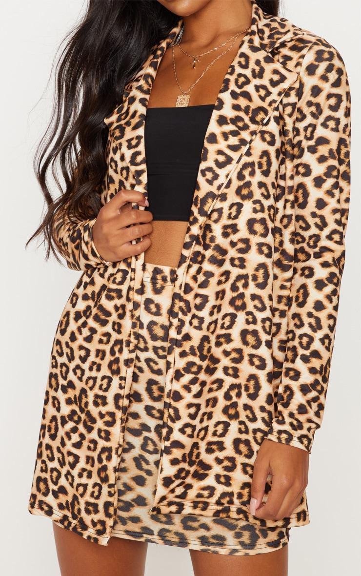 Brown Leopard Blazer  5