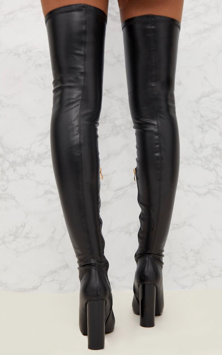 Black Black PU Thigh Boot 3