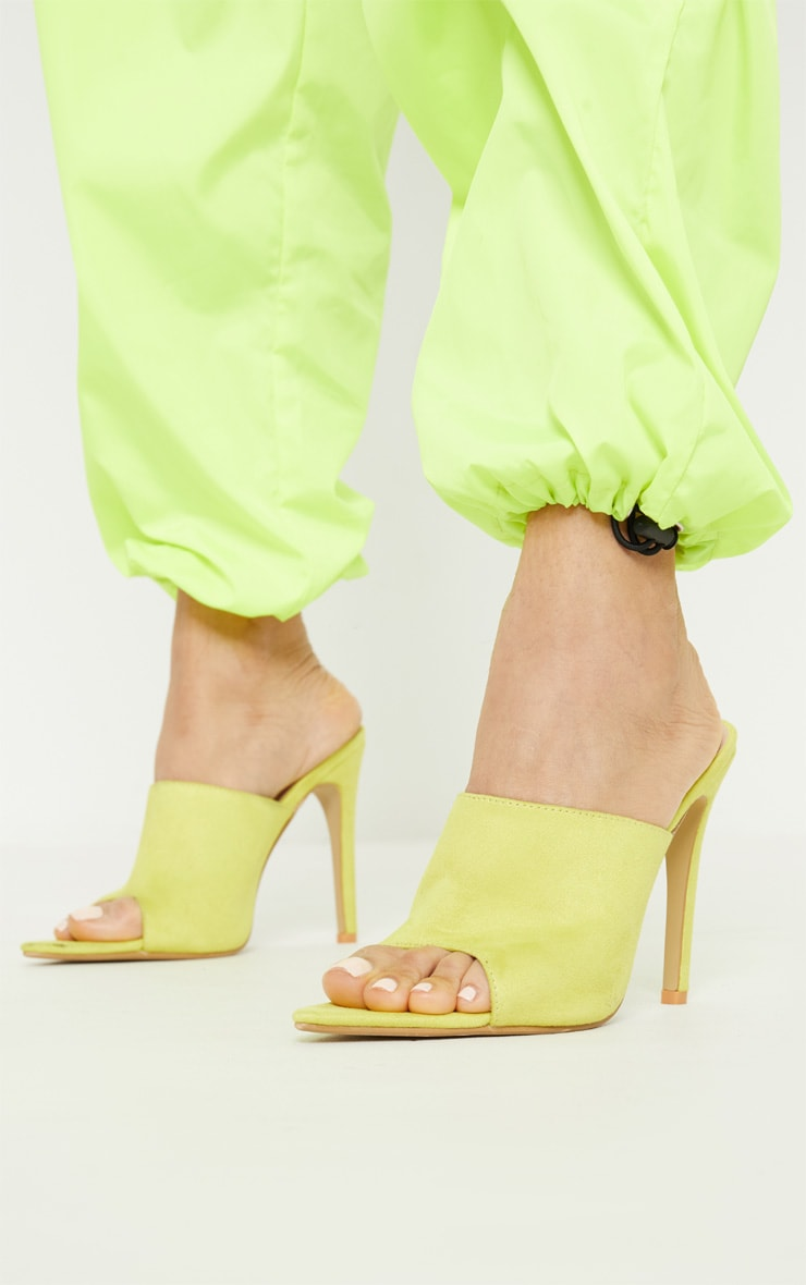 Lime Point Toe Mule 2