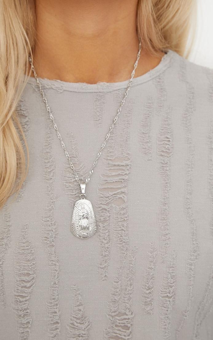 Silver Renaissance Pendant Drop Necklace 2