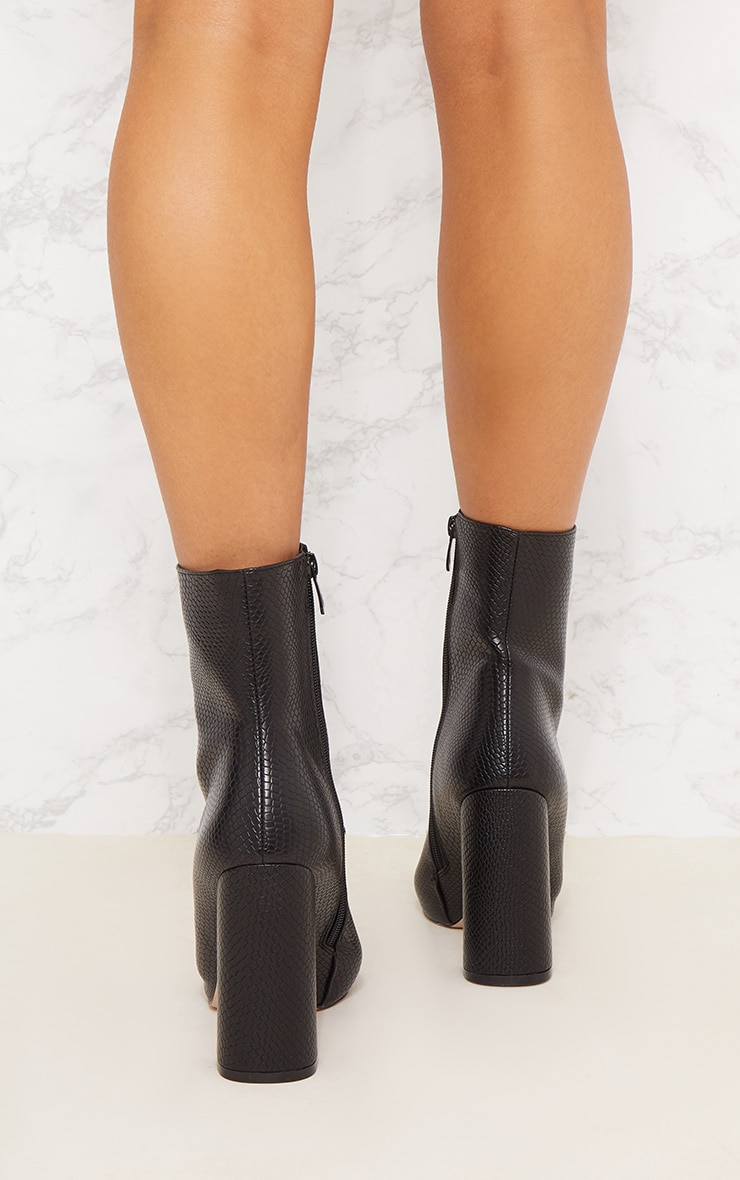 Black High Point Ankle Boot 5