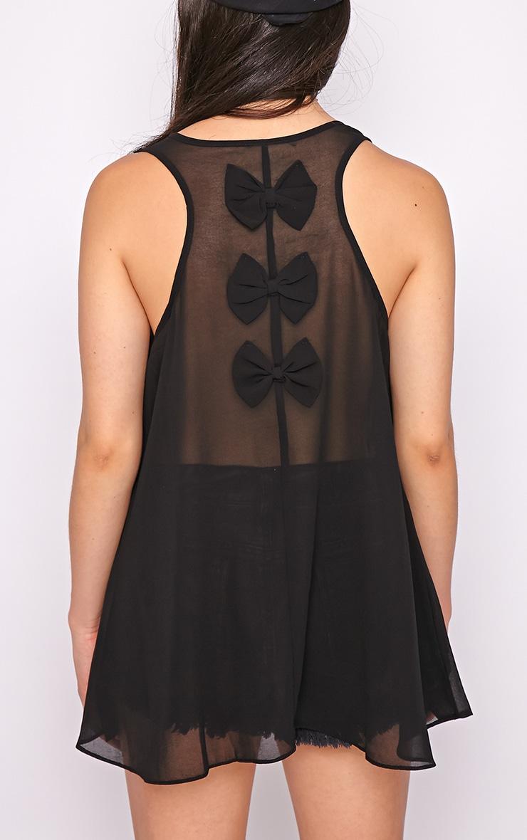 Lizzy Black Studded Swing Vest  2