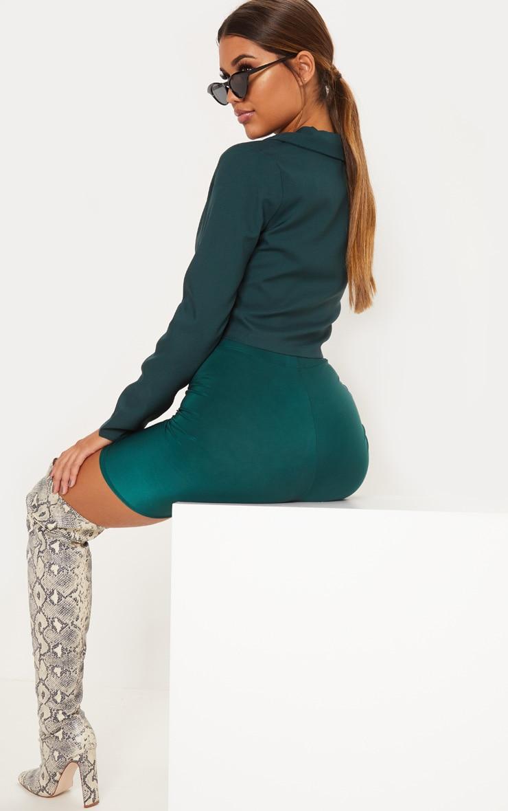 Emerald Green Cropped Blazer  2