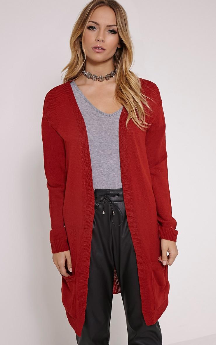 Leanne Rust Fine Knit Cardigan 1