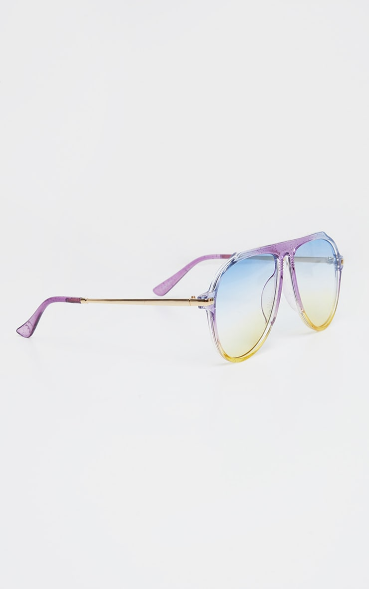 Multi Gradient Oversized Aviator Sunglasses 2