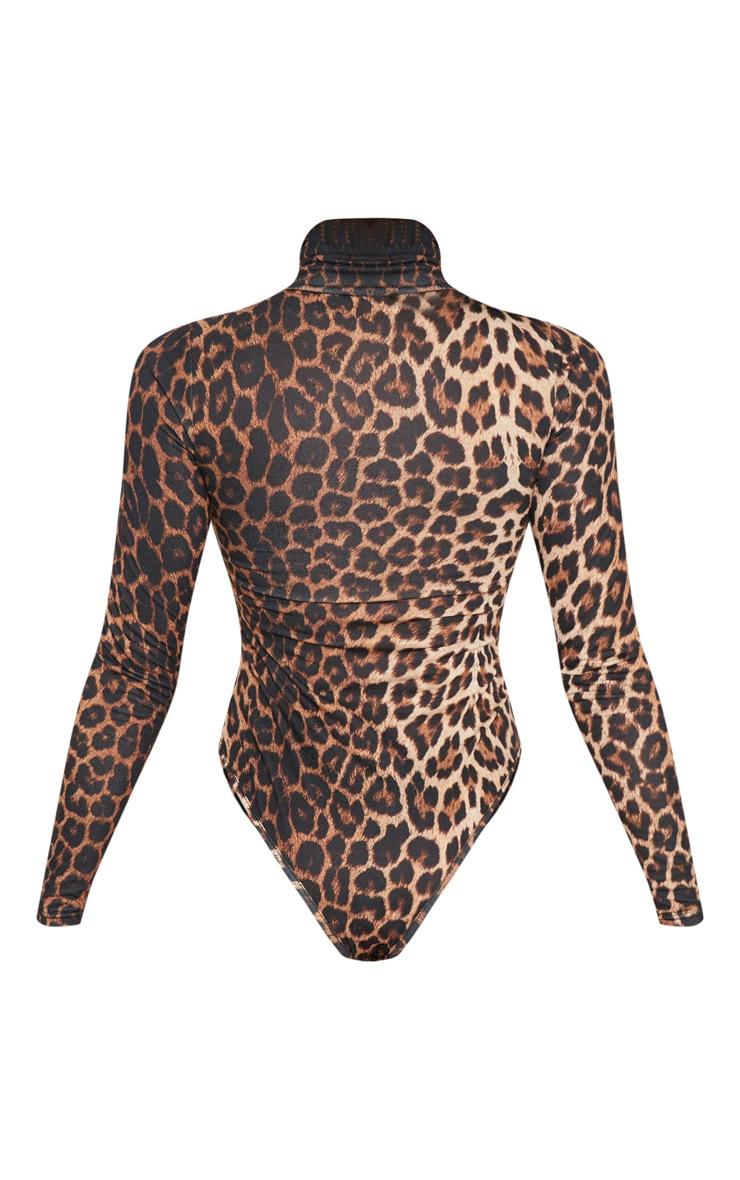 Body col roulé à imprimé léopard 4