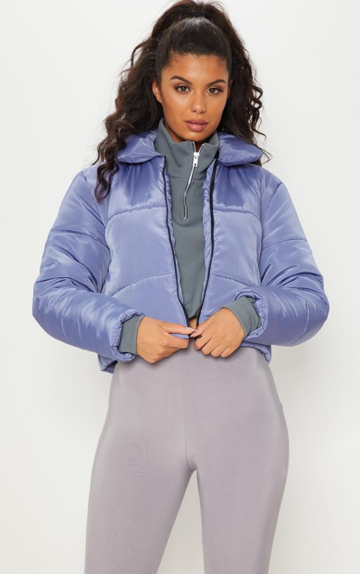 Blue Cropped Puffa  4