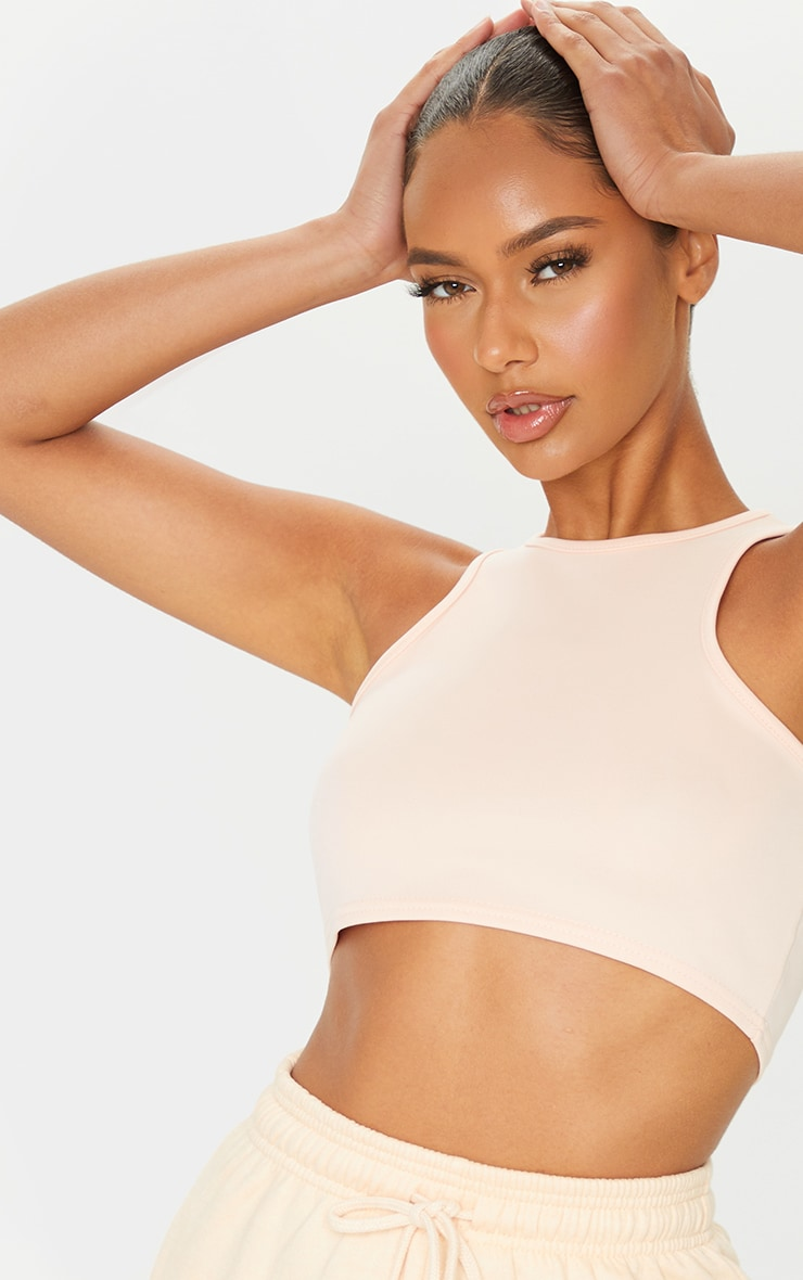 Nude Scuba Racer Neck Crop Top 4