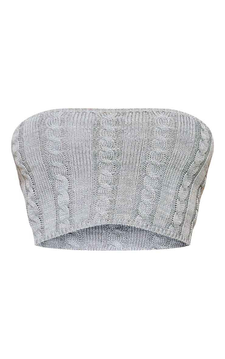 Grey Cable Knitted Bandeau 3