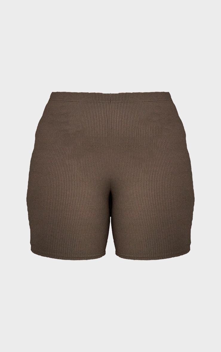 RENEW Plus Khaki Rib Cycle Shorts 6