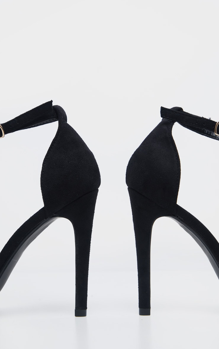 Clover Black Strap Heeled Sandals 5