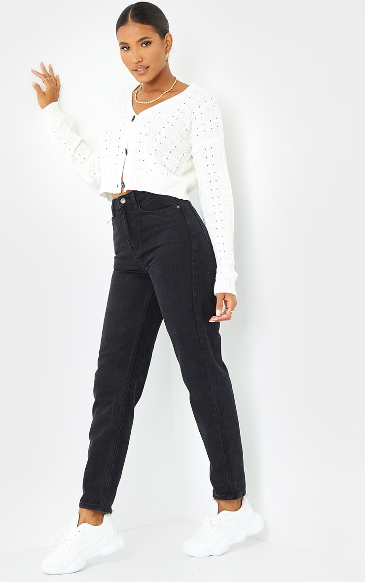 PRETTYLITTLETHING Black Mom Jean 4