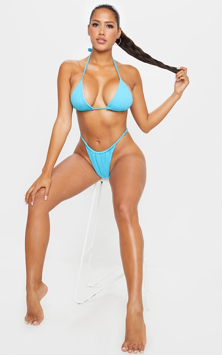 Shape Aqua Crinkle High Leg Adjustable Bikini Bottom 4