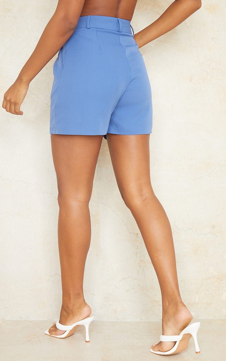 Dusty Blue Woven Tailored Runner Shorts 3
